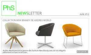 newsletter phs mobilier avril 2013
