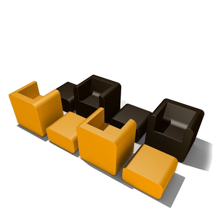 fauteuil et repose pied jesper high phs mobilier