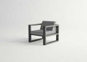 Delaz-Armchair-GRAPHITE-Aegean-Grey